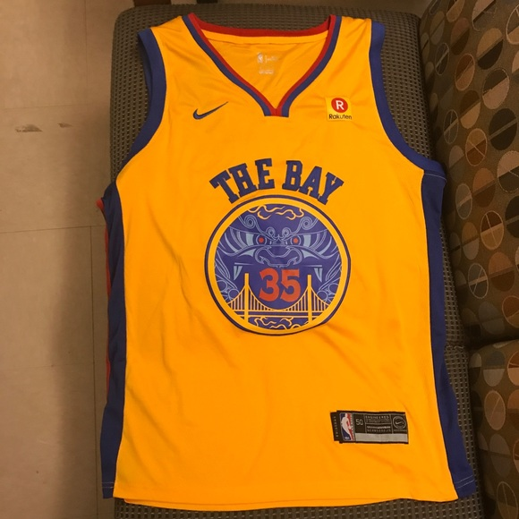 4dcdbaf8f Kevin Durant Golden State Warriors The Bay jersey